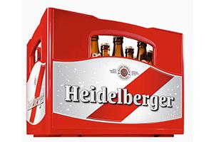 Ein Bierkasten der Brauerei Heidelberger
